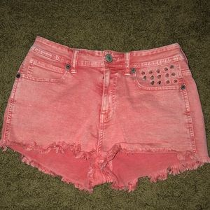 Kendall and Kylie Studded Denim Shorts